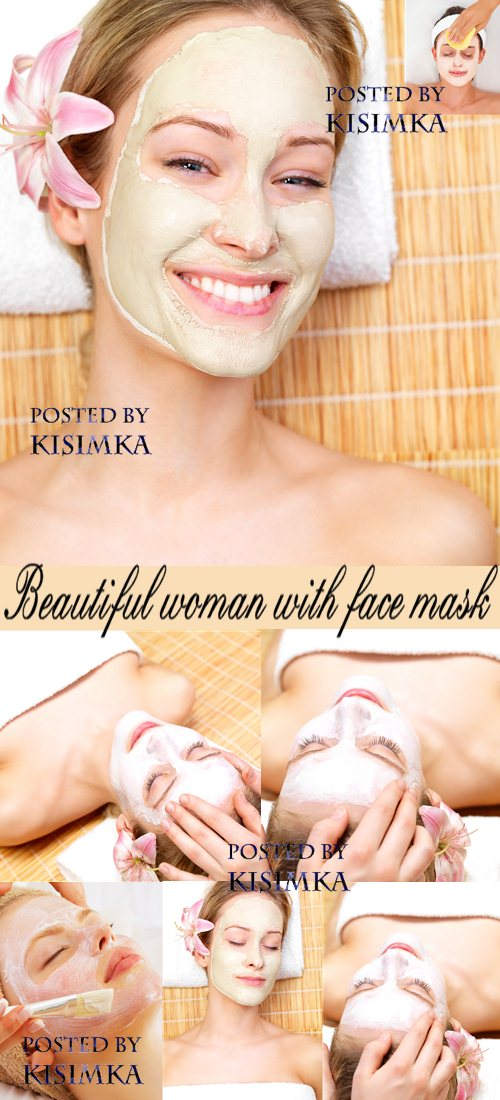 Stock Photo: Beautiful woman with face mask