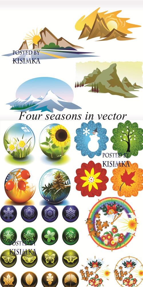 Stock: Four seasons in vector