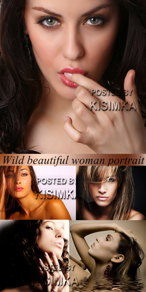 Stock Photo: Wild beautiful woman, portrait