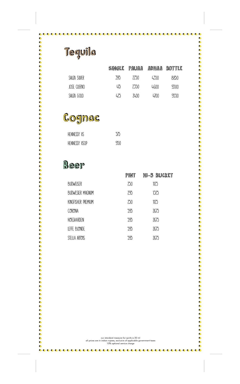 Farzi Cafe menu 5