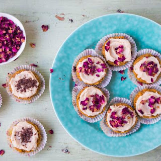 Buckwheat And Butternut Cupcakes With Tahini Maple Icing.