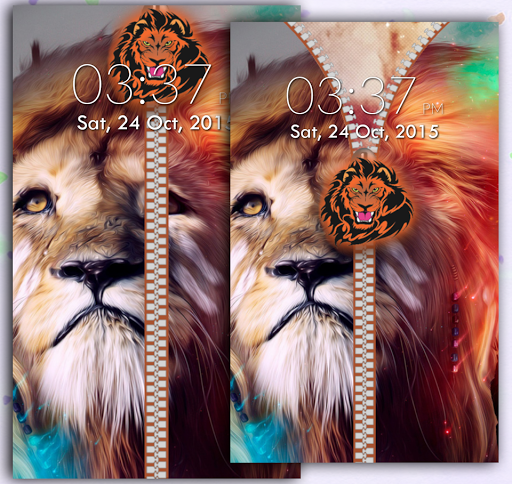 Lion Zipper Screen Lock