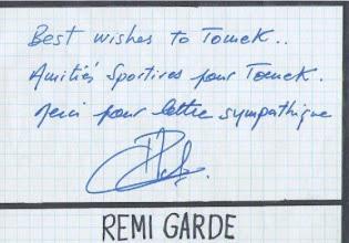 Photo: Remi Garde