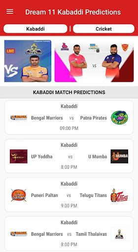 Dream11 Big Bash Cricket Predictions & Pro Kabaddi 1.3 screenshots 3