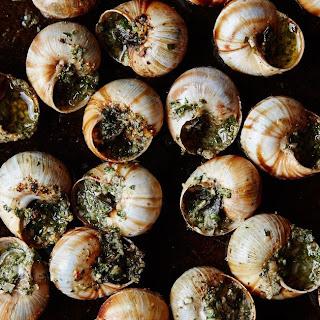 Escargot With Garlic-Parsley Butter.