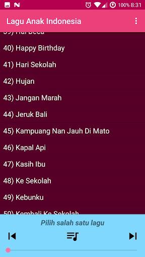 Lagu Anak Indonesia Terpopuler 1.0 screenshots 3