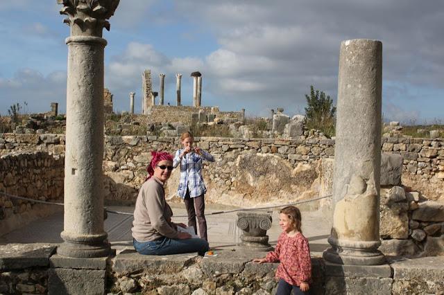 Après la traversée de Rif, nous sommes à Volubilis, site Romain
