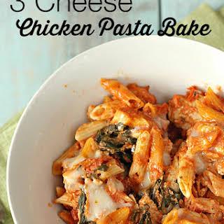 Three-Cheese Chicken Penne Pasta Bake.