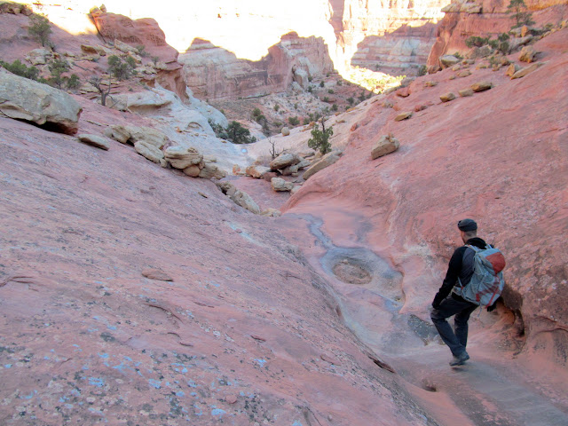 Descending into the canyon