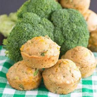 Broccoli Cheddar Cornbread Muffins.