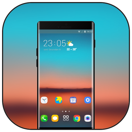 Theme for asus zenfone max pro M1 colorful sunset icon