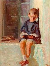 """Photo: Alexandros Christofis, """"Bambino in lettura"""" (prima metà del XX secolo)"""