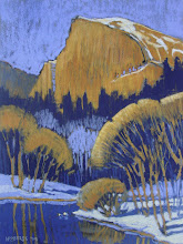 Photo: Half Dome in Winter, pastel by Nancy Roberts, copyright 2014. Private collection.