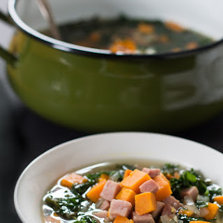 Sweet Potato, Ham, and Kale Soup with Rosemary {AIP, Paleo} Recipe
