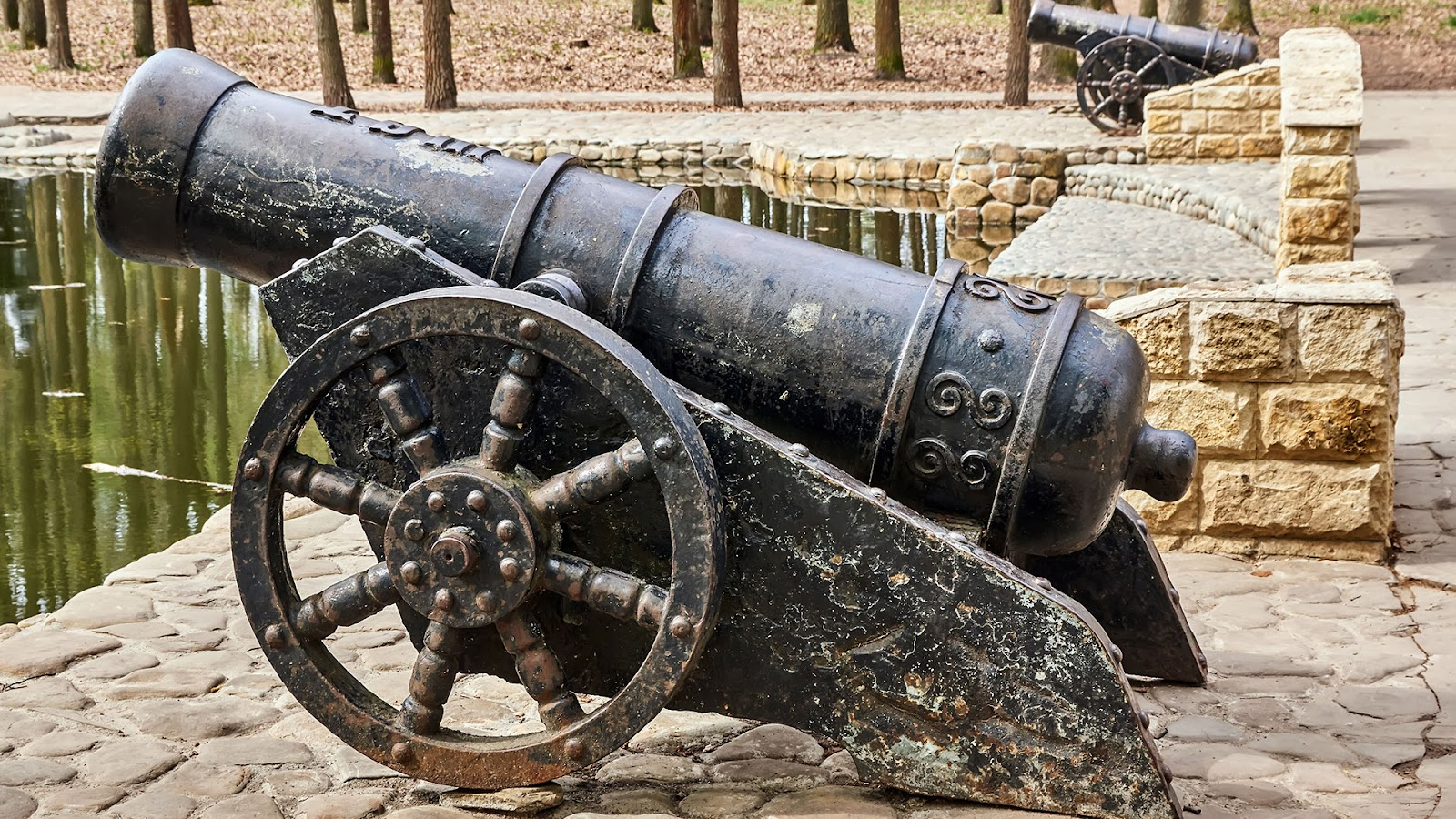 black antique cannon