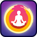 Slim workout yoga king icon