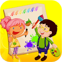 Kids Paint and Coloring Fun icon