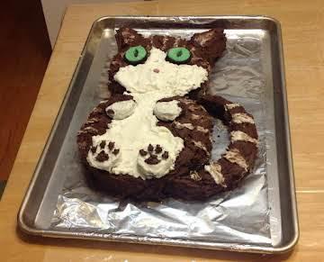 Tabby Cat Cake