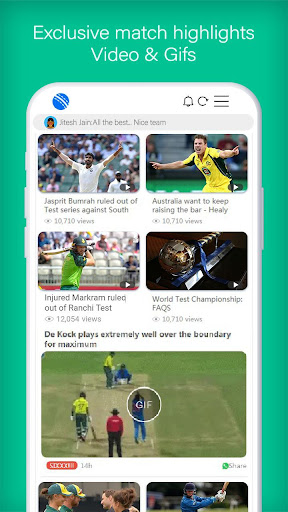 UC Cricket -UC Browser Official Cricket Product screenshot 5
