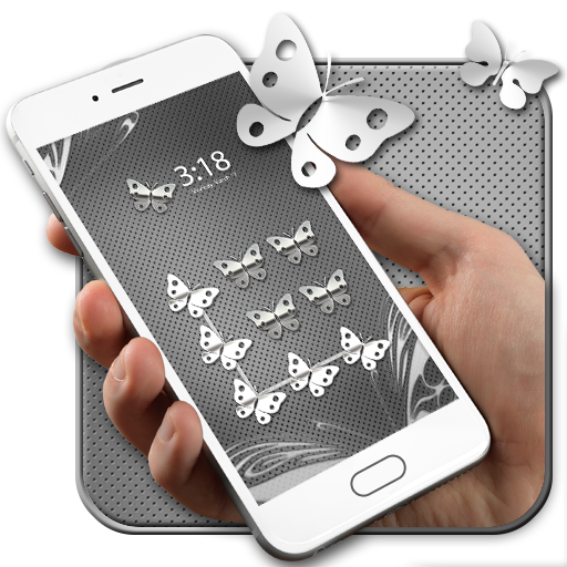 Metal Butterfly AppLock Theme