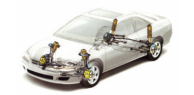 Double-wishbone suspension on Honda Accord 2005 Coupe