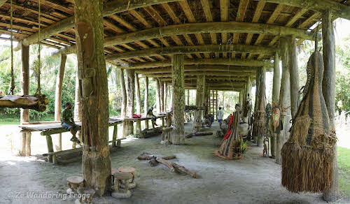 Papua. New Guinea East Sepik River Clans Crocodile Traditions. Inside Men's House