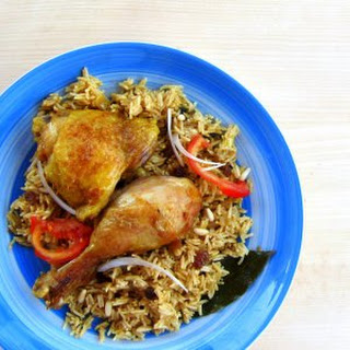 Pressure Cooked Chicken and Rice.