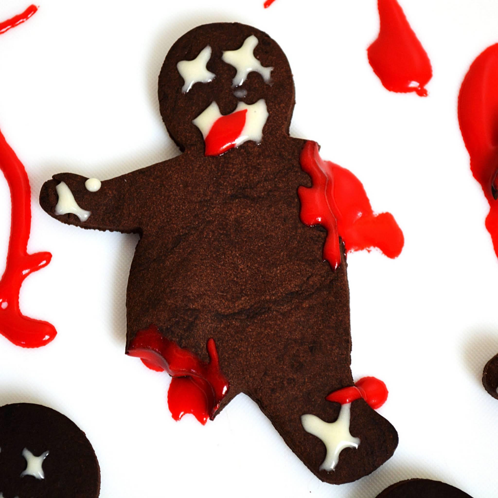 Zombie Chocolate Shortbread Cookies