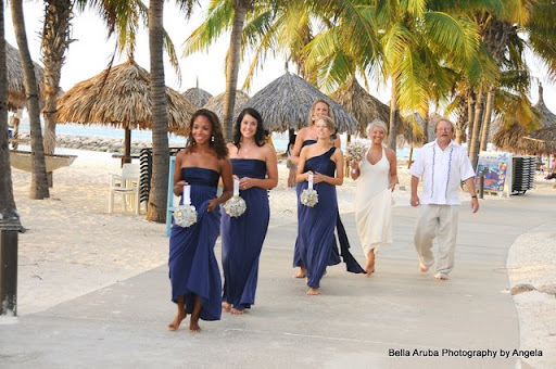 Sweet Blue Beach Bridesmaid Dresses