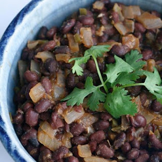 Spicy Black Beans, Peruvian-style - Frijoles Escabechados.