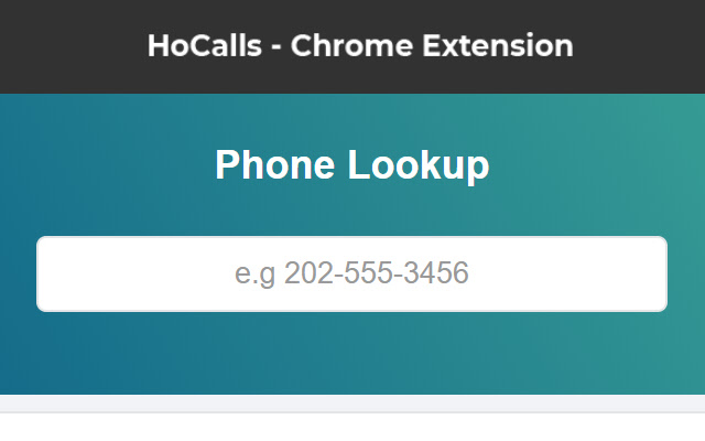 HoCalls - Caller Name Lookup