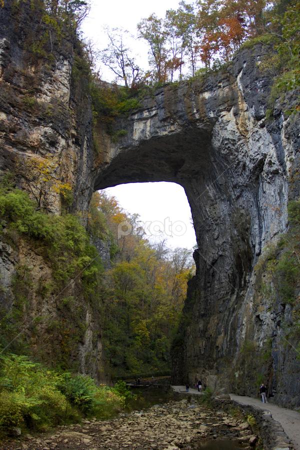 Natural Bridge by Jennifer Lamanca Kaufman - Buildings & Architecture Statues & Monuments ( structure, mountain, natural bridge, virginia, rock, va )