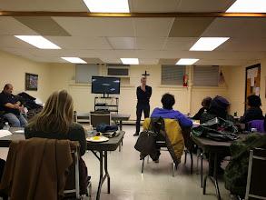 Photo: Seminarian Jamie Hernandez teach Bible Study