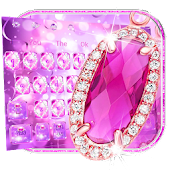 Pink Diamond Glitter Keyboard