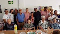 Empleados y usuarios del Centro de Estancias Diurnas.
