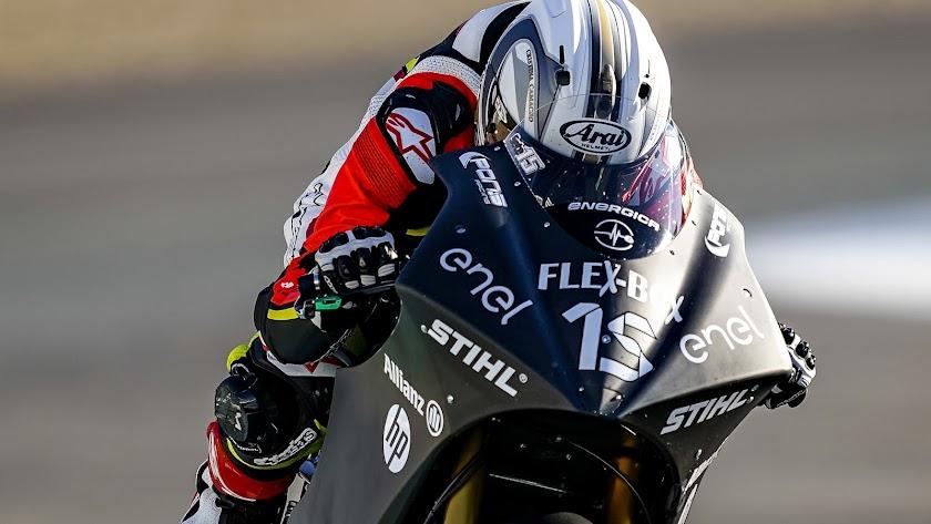 Debut de Sete Gibernau sobre una MotoE en los test de Jerez