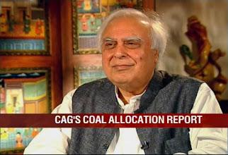 Photo: BJP using coal to destabilise govt, says Kapil Sibal http://t.in.com/arCf