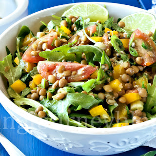 Lentil salad - Vegan salad recipes.