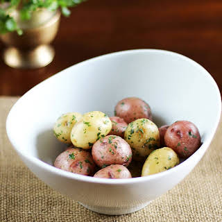New Potatoes with Herbs and Anchovy Butter.