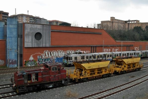 Stazione Garbatella  Roma di pizia1966