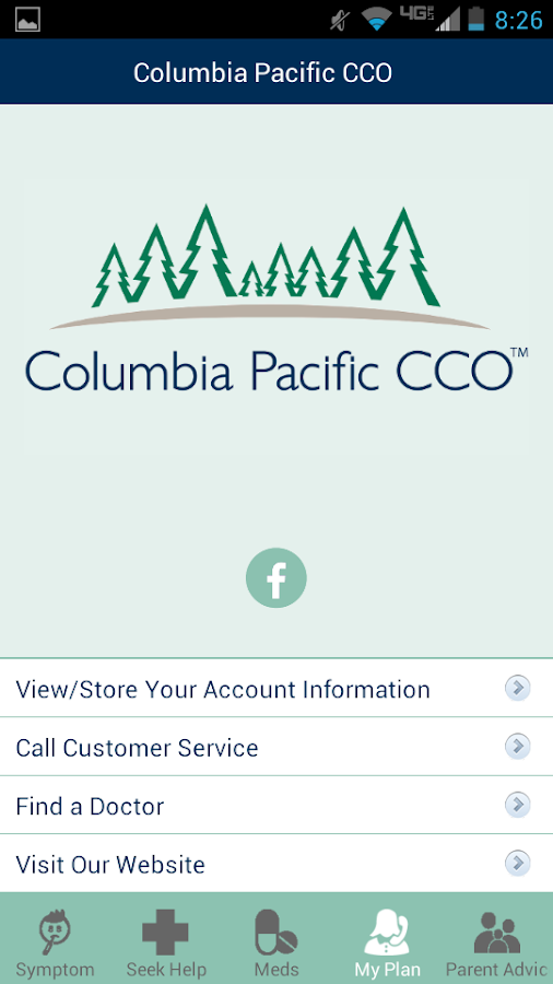 ColPac Health mobile app- screenshot