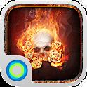 The Flame Skull Hola Theme icon