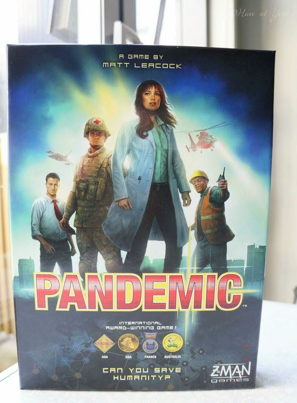 cover shot of the Pandemic box showing some of the characters used in the game