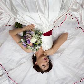 Bride by AttitudePhotohouse Mike - Wedding Bride ( model, wedding photography, bridal, gown, bride )