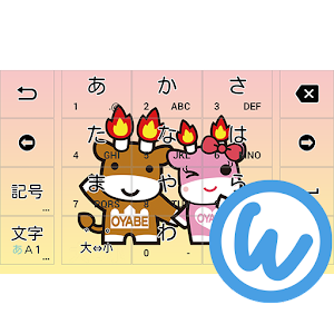 Download Keyboard image (Merugyu-kun, Merumomo-chan ver) APK