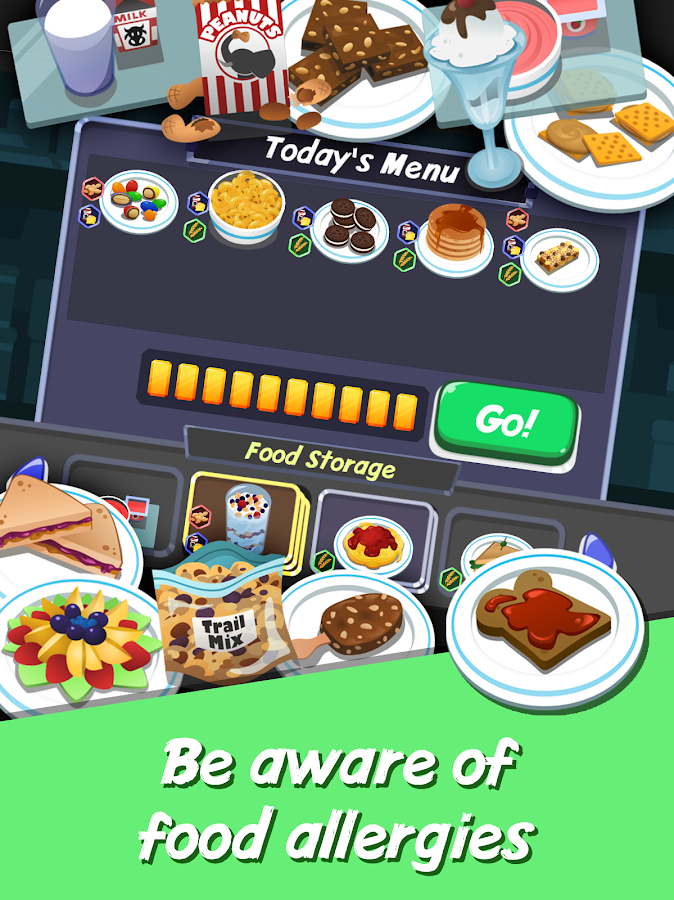 Wizdy Diner: Food Allergy Game- screenshot