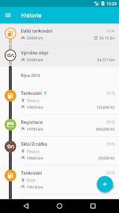 Drivvo - Správa vozidla - náhled