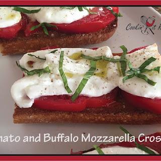Tomato and Buffalo Mozzarella Crostini