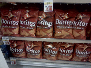 Photo: What's Pepsi without Doritos?! Of course I grabbed a bag, plus they were only 1.99 a bag and that's a steal!