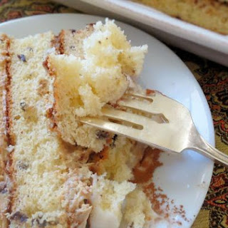Melted Ice Cream Cake with Espresso Butter Cream